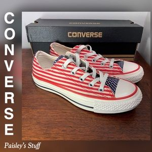 Converse American Flag Low Top Shoe with Box